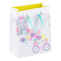 Small Birthday Bike & Balloons Tote