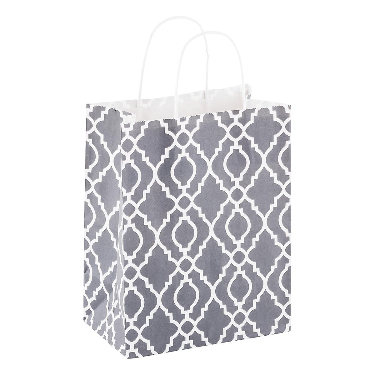 Medium Grey Trellis Tote