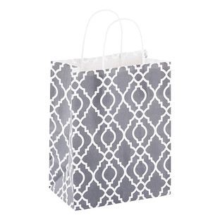 Medium Grey Trellis Gift Bag