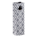 Grey Trellis Bottle Tote