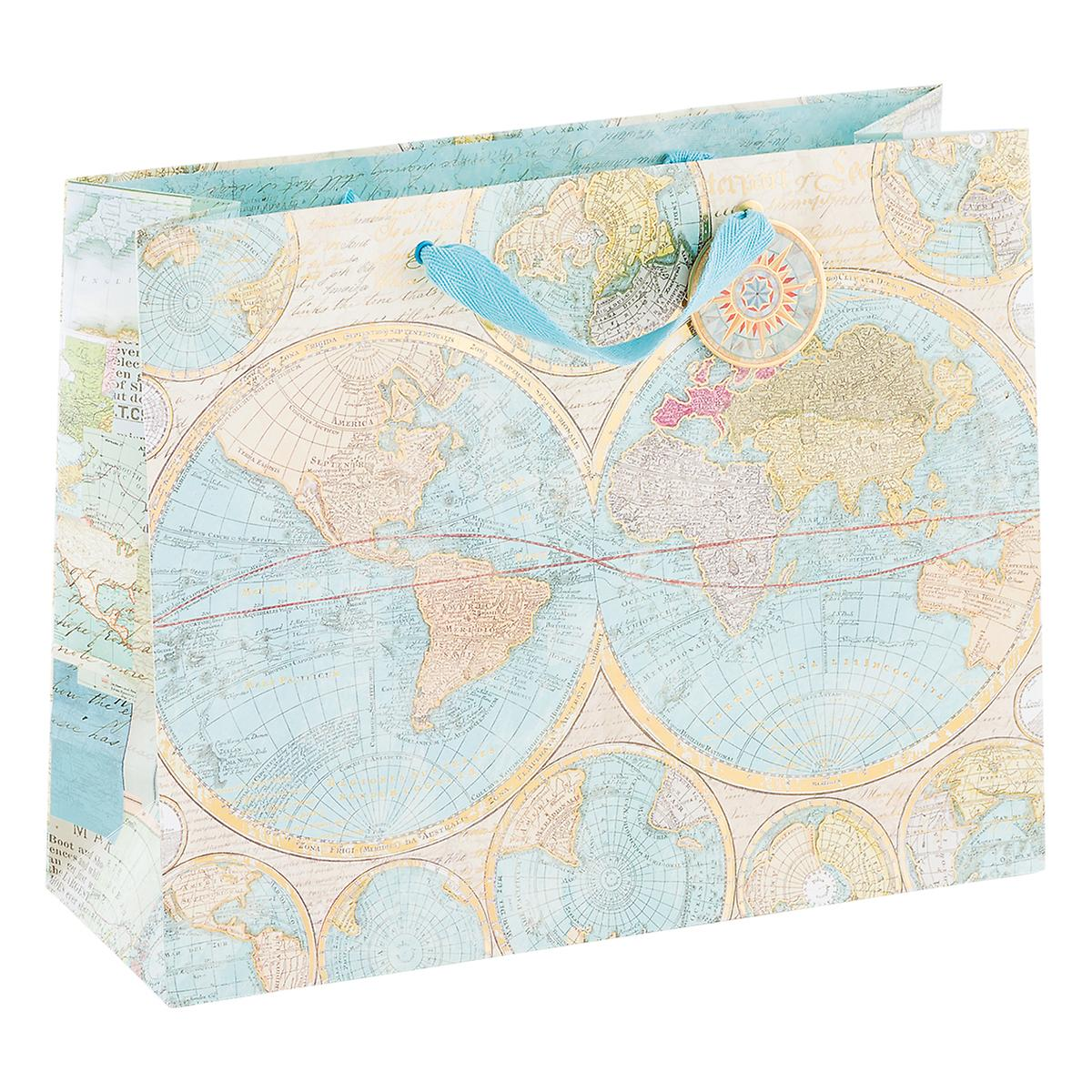 Large World Map Tote