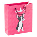 Medium Pink Cutie Dog Tote