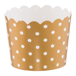 Small Gold Dots Baking Cups