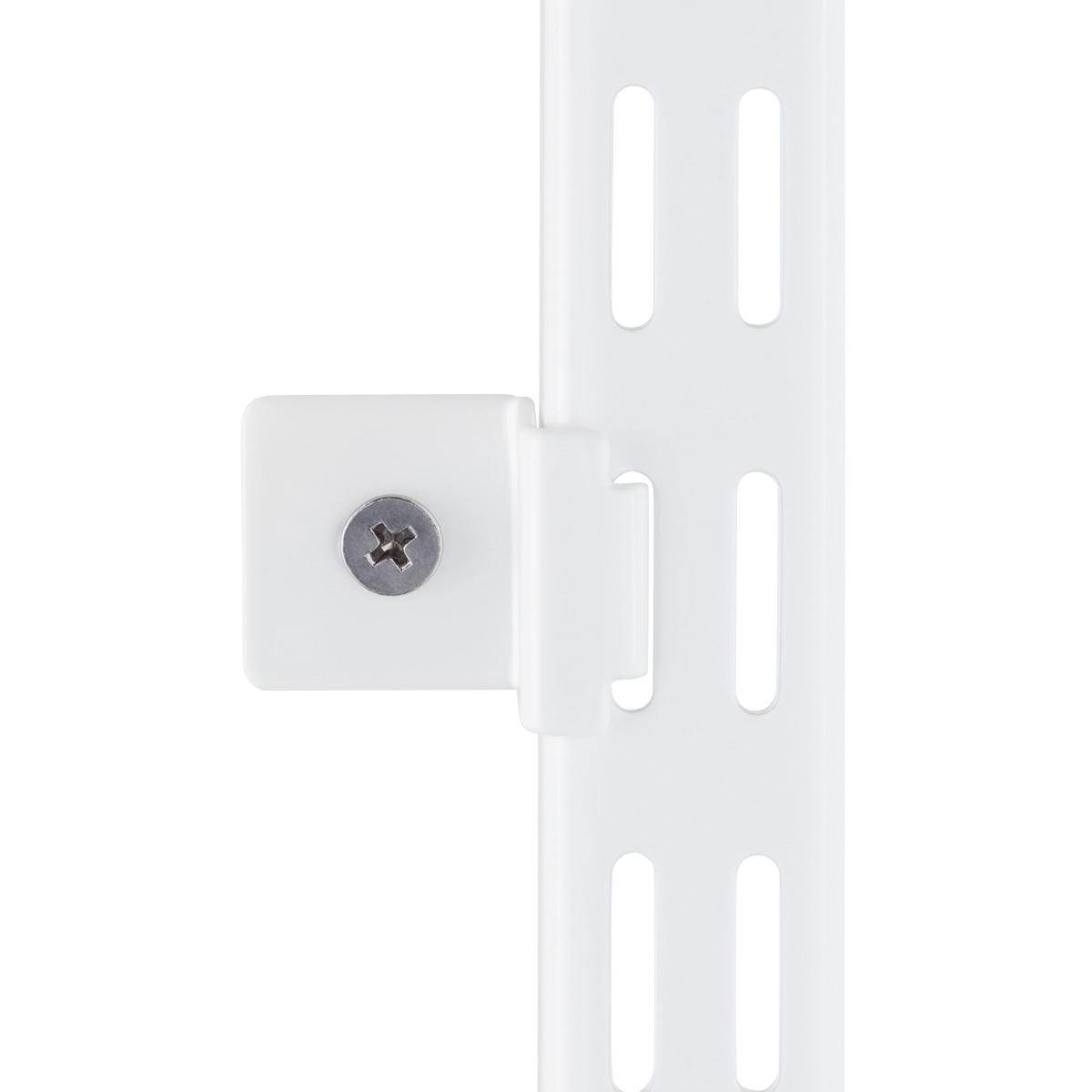 White elfa Hang Standard Wall Clips