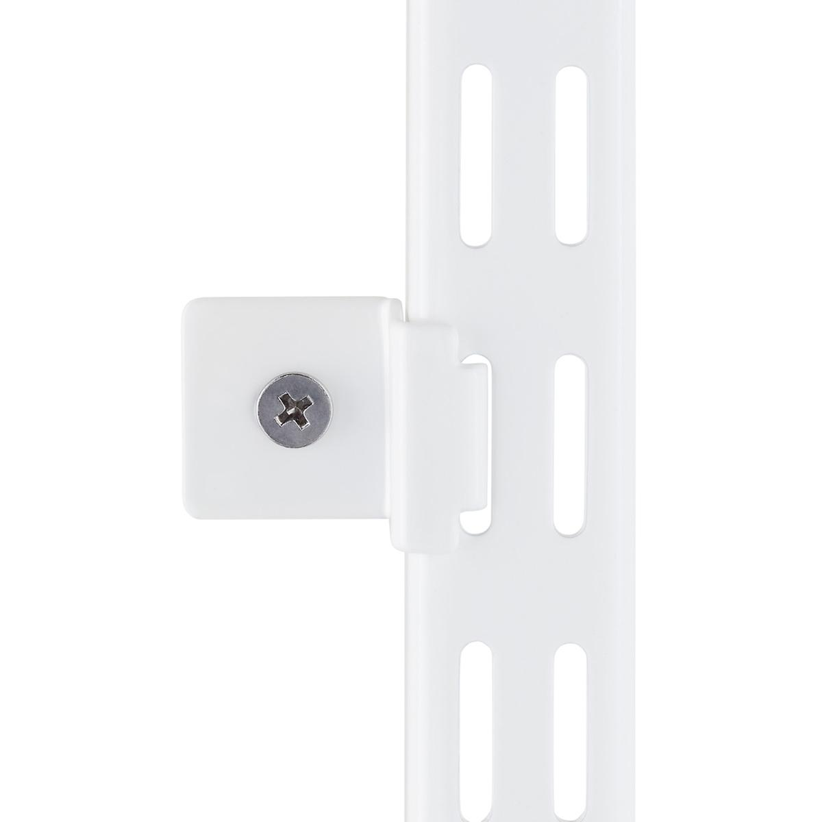 White Elfa Hang Standard Wall Clips