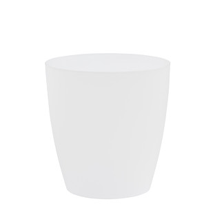 Clear Oval Vanity Trash Can