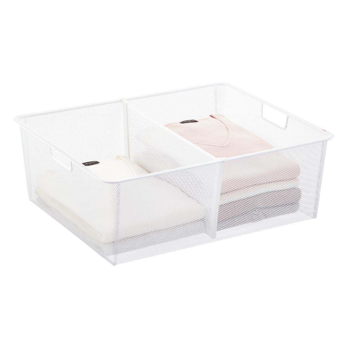 Elfa White Medium Mesh Drawer Dividers