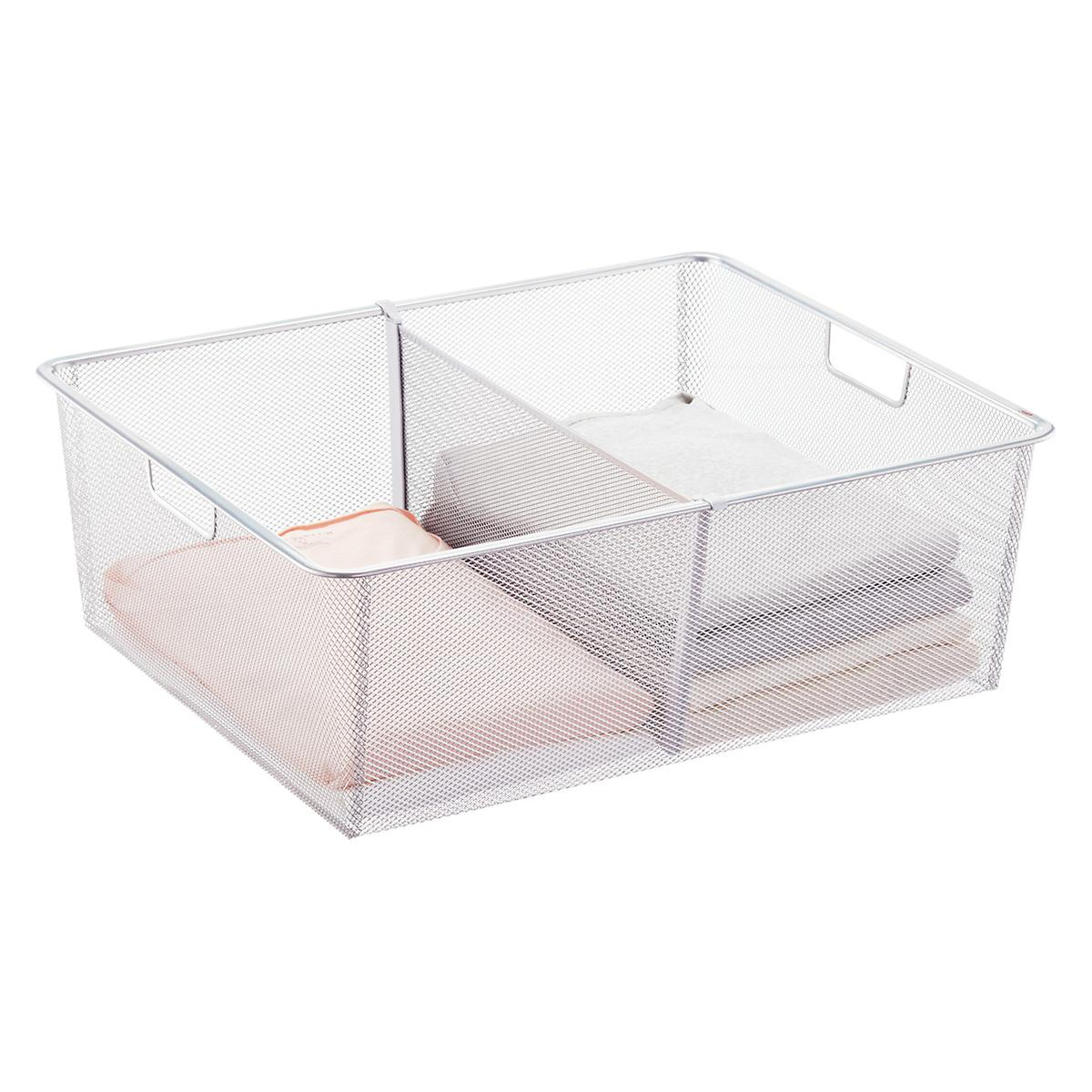 Elfa Platinum Medium Mesh Drawer Dividers
