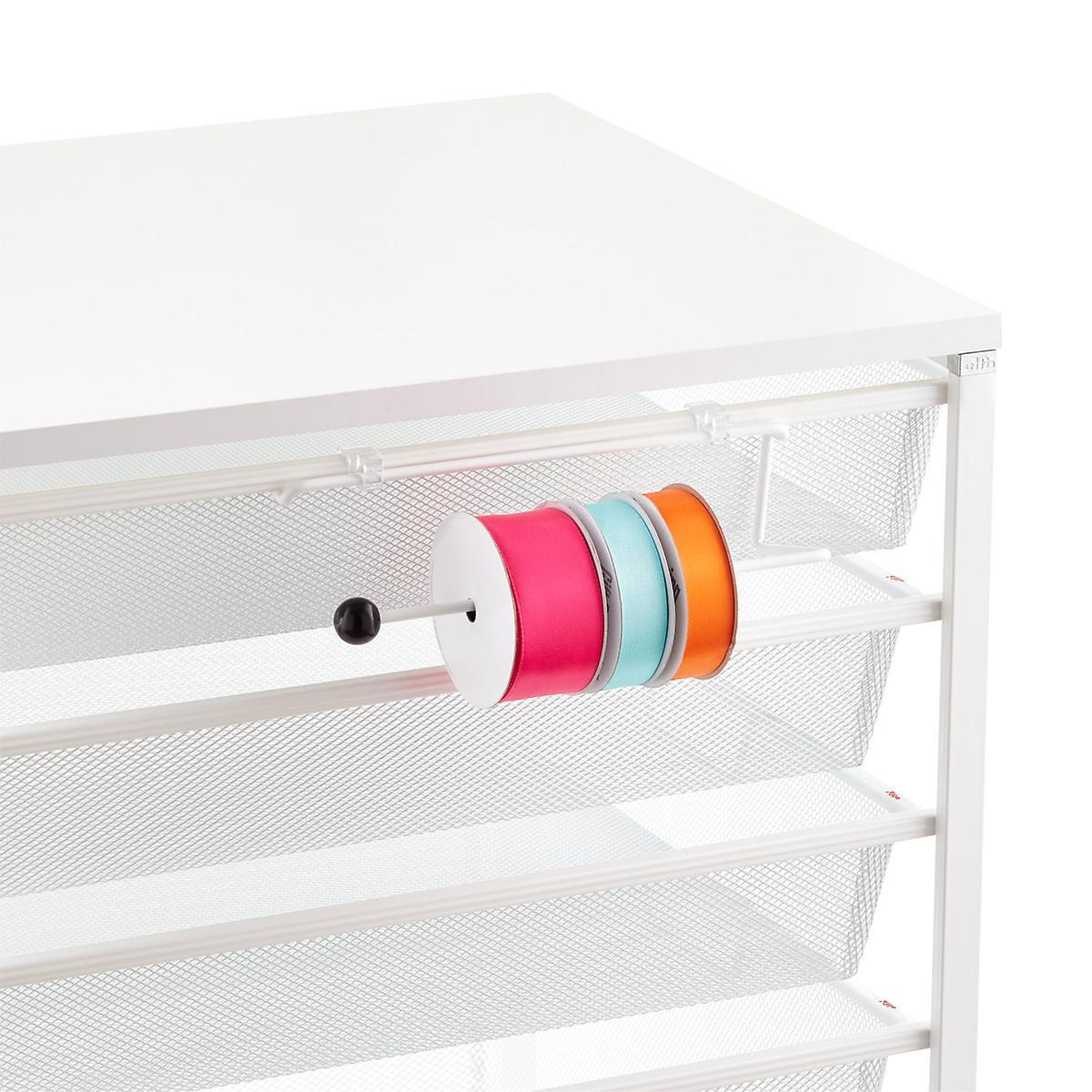 White Elfa Ribbon Dispenser