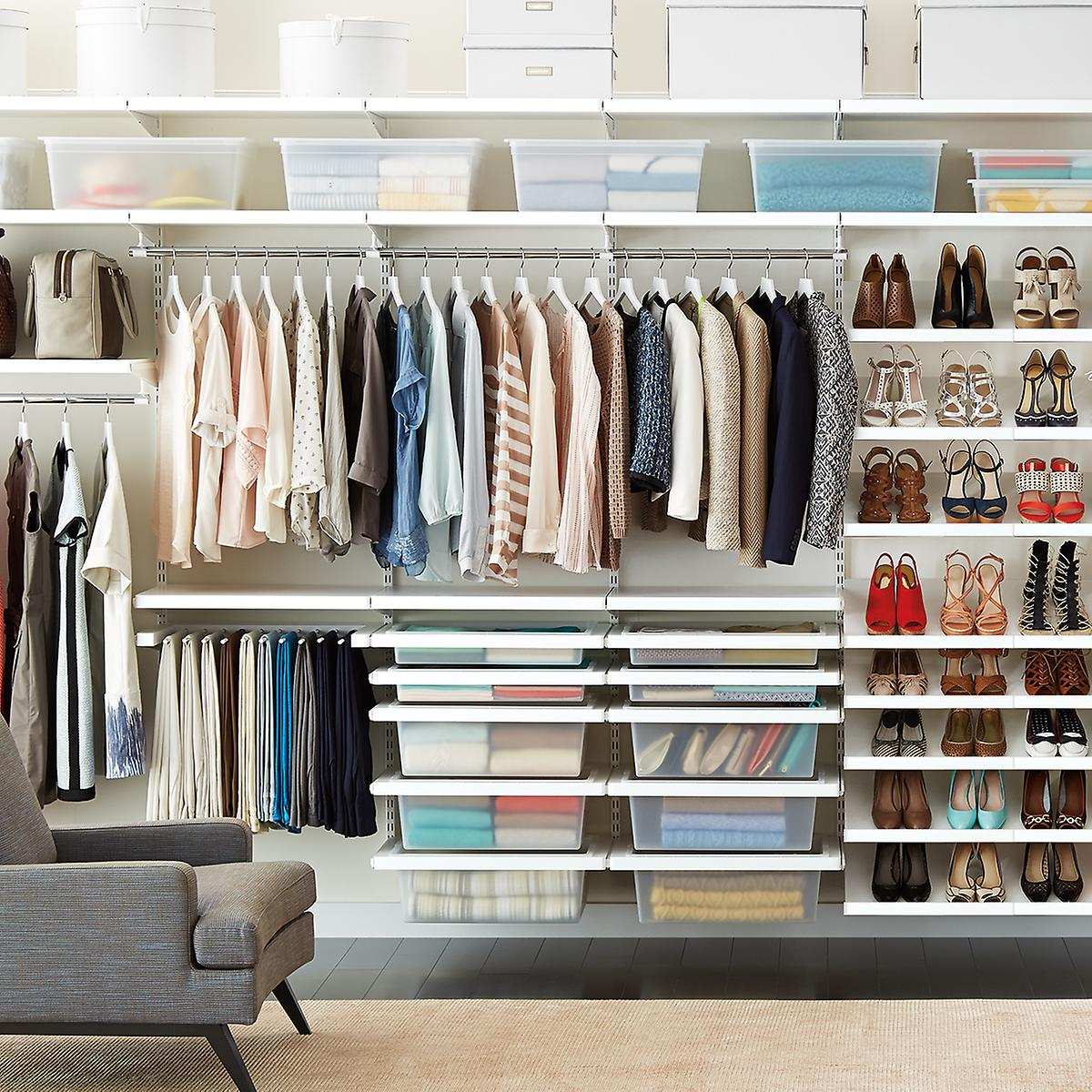 Create your own custom closet system and shelving with Elfa - build a plan online, visit an in-store expert, or pick out the components yourself! Get free shipping over $75 + free in-store pickup everyday.