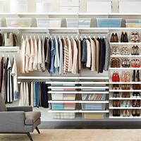 White elfa Deluxe Closet System