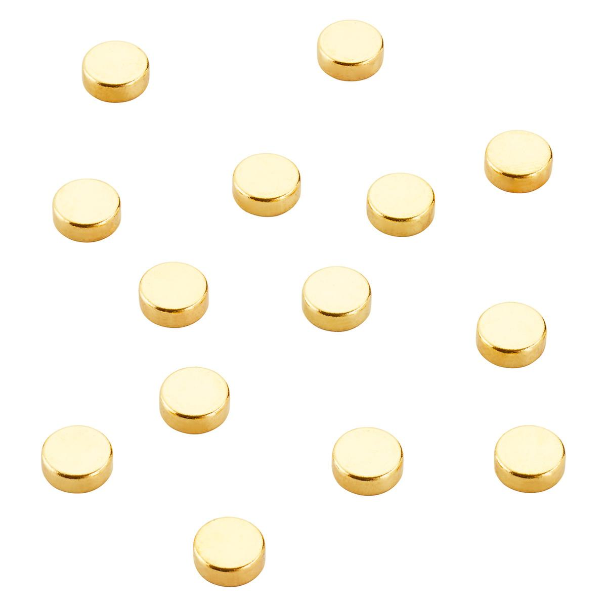 Three by Three Mighty Magnets Gold Dots