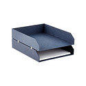 Navy Bigso Marten Set of 2 Stacking Letter Trays