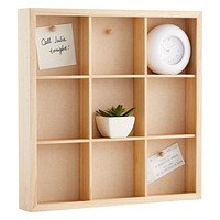 Umbra 9-Compartment Natural Wooden Gridbox