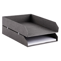 Bigso Marten Grey Set of 2 Stackable Letter Trays