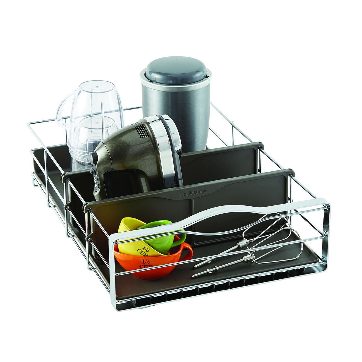kitchen cabinet caddy simplehuman 14 quot pull out cabinet organizer the container 18292