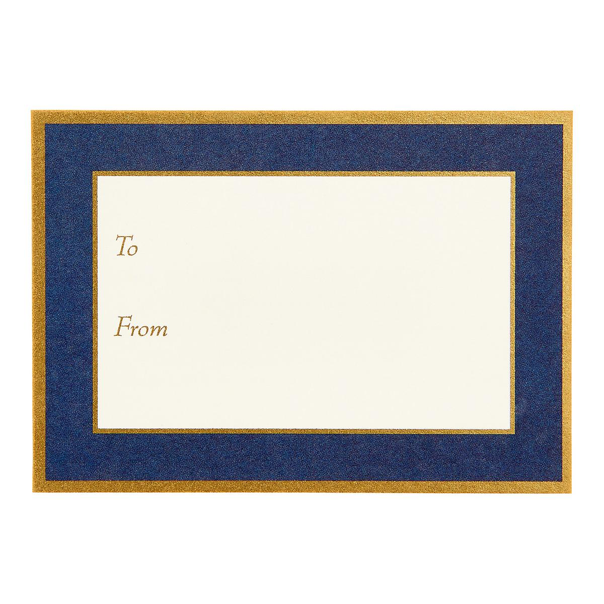 Navy and Gold Adhesive Labels
