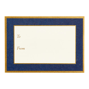 Navy & Gold Adhesive Labels