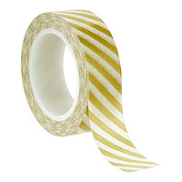 Gold Diagonal Stripe Decorative Tape