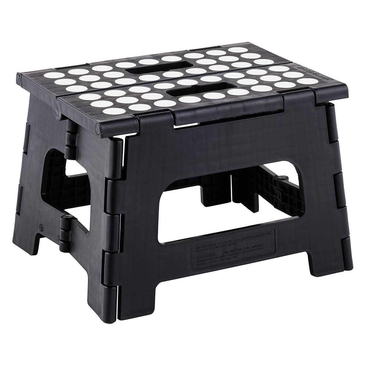 Folding Step Stool Black Easy Folding Step Stool The