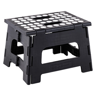 Black Easy Folding Step Stool