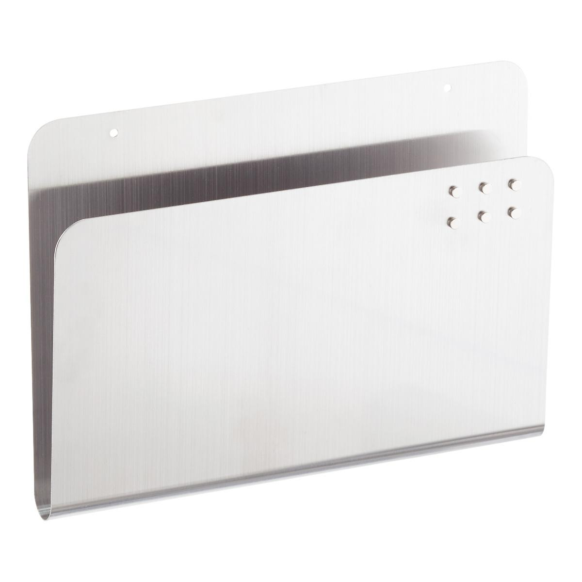 Three by Three Stainless Steel Magnetic Wall Pocket | The Container ...