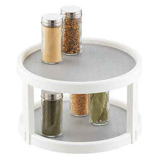 madesmart 2-Tier White Lazy Susan