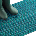 Chilewich Turquoise Skinny Stripe Door Mat