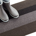 Chilewich Black & Silver Bold Stripe Door Mat