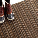 Chilewich Latte Skinny Stripe Door Mat