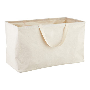 Umbra Natural Large Rectangular Shimmer Crunch Bin with Handles
