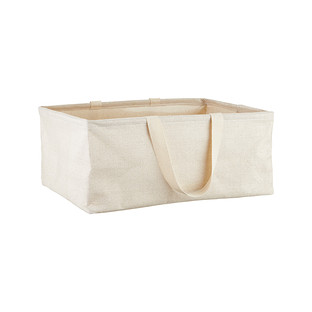 Umbra Natural Small Rectangular Shimmer Crunch Bin with Handles