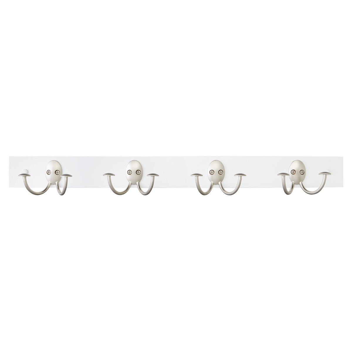 White Hardwood Double Hook Rack