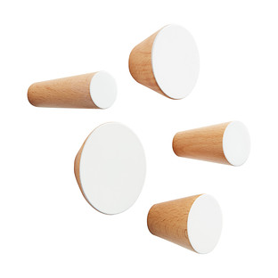 Three by Three Hob Knob Solid Wood Wall Pegs