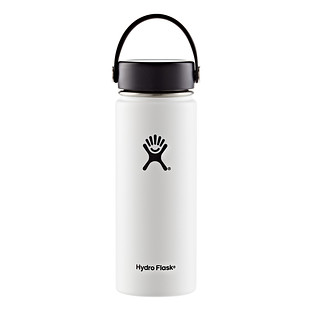 White 18 oz. Wide Mouth Hydro Flask