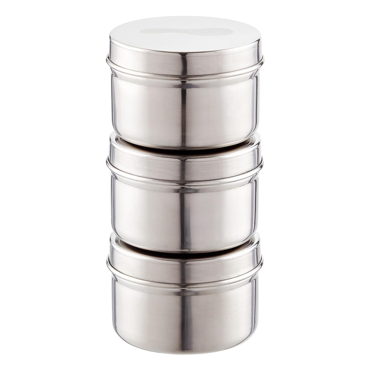 2.5 oz. Stainless Steel Containers