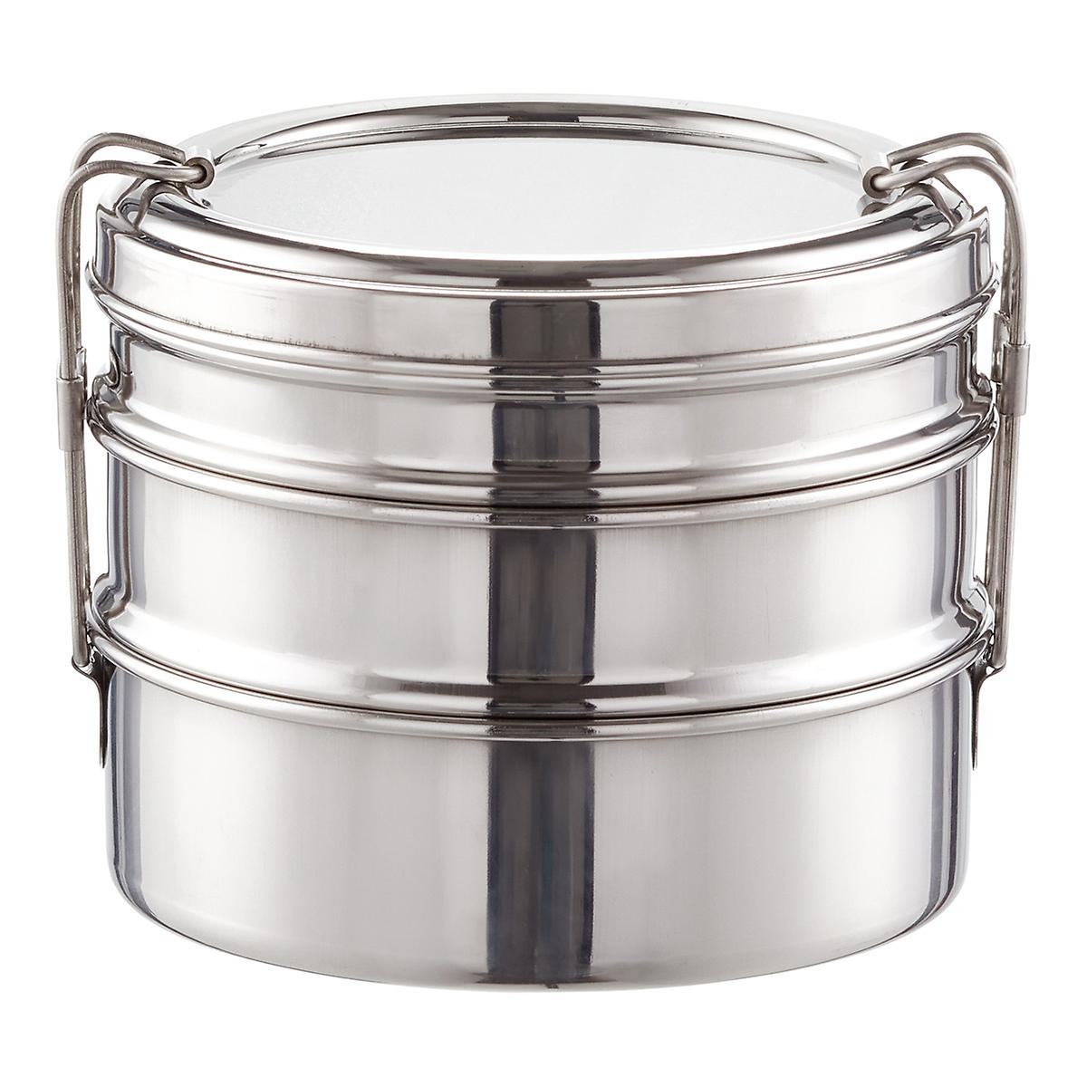 Ecolunchbox Stainless Steel Round 3 In 1 Bento Box The