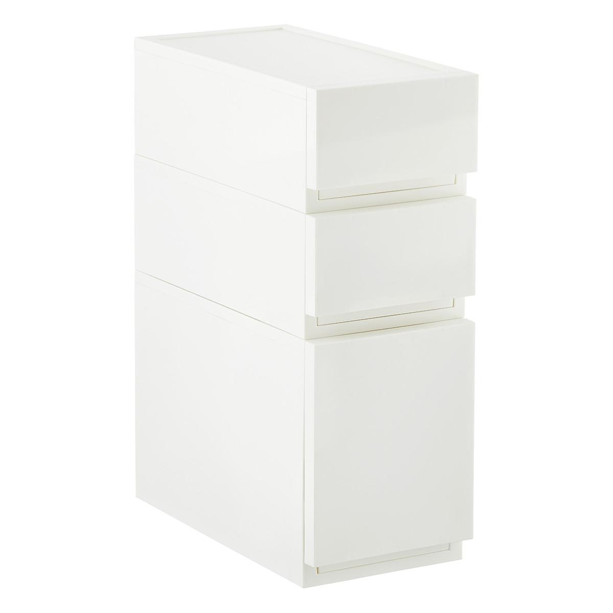 White Opaque Modular Stackable Drawers The Container Store