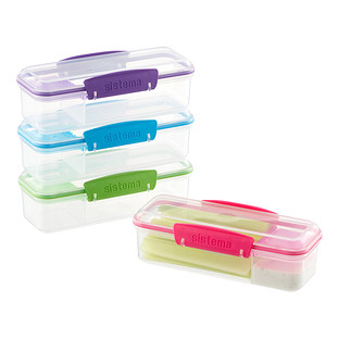 Sistema 13.8 oz. Snack-Attack-to-Go Container
