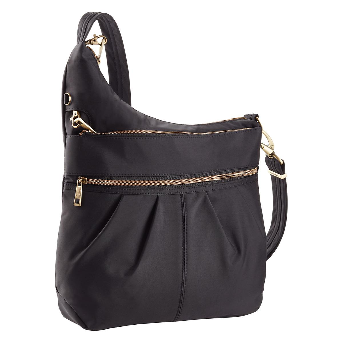 Travelon Black Anti-Theft Signature Crossbody Bag