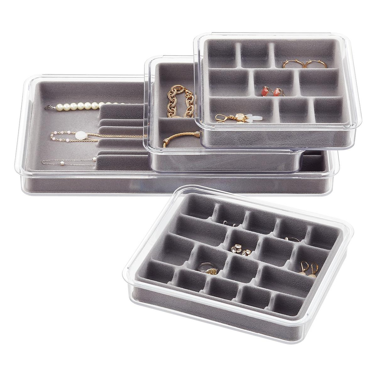 Grey Stackable Jewelry Tray System