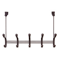 Bronze York Over the Door 5-Hook Rack