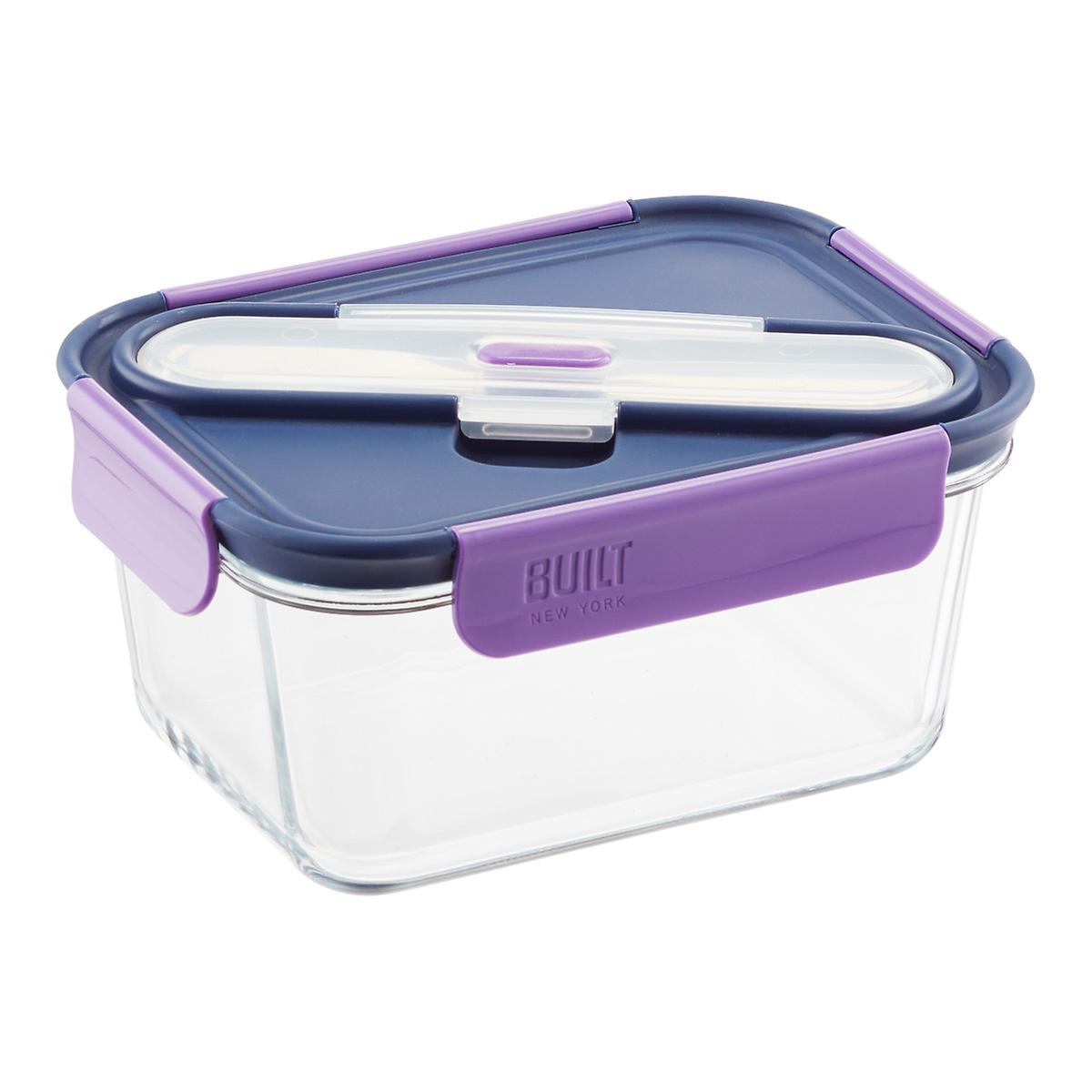 gourmet bento glass container the container store. Black Bedroom Furniture Sets. Home Design Ideas