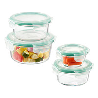 OXO Good Grips 8-Piece SNAP Round Glass Food Storage Set