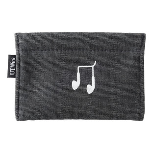 Charcoal Earphone Accessory Pouch