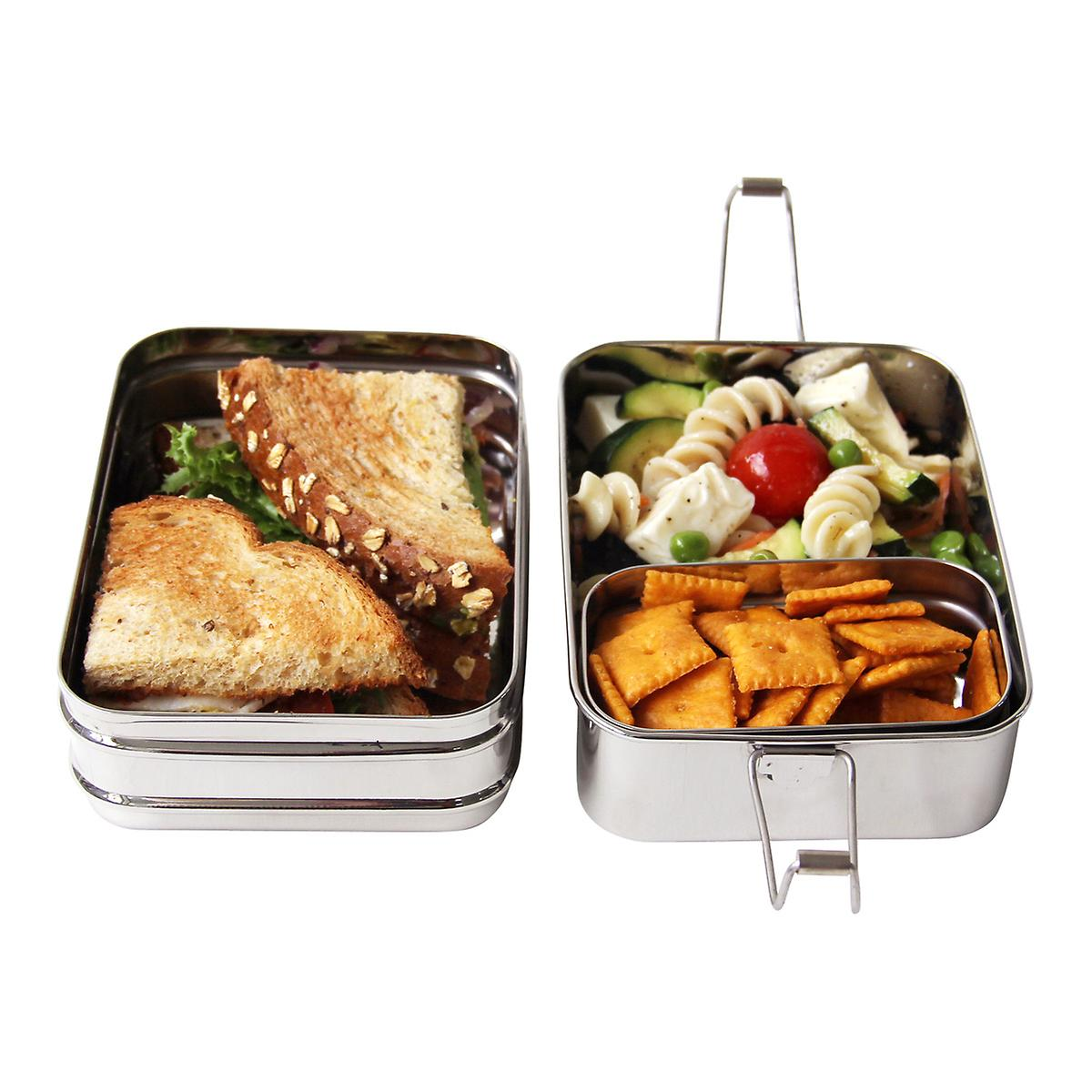 fac1dccfcc ECOlunchbox Stainless Steel Rectangular 3-in-1 Lunch Box | The Container  Store