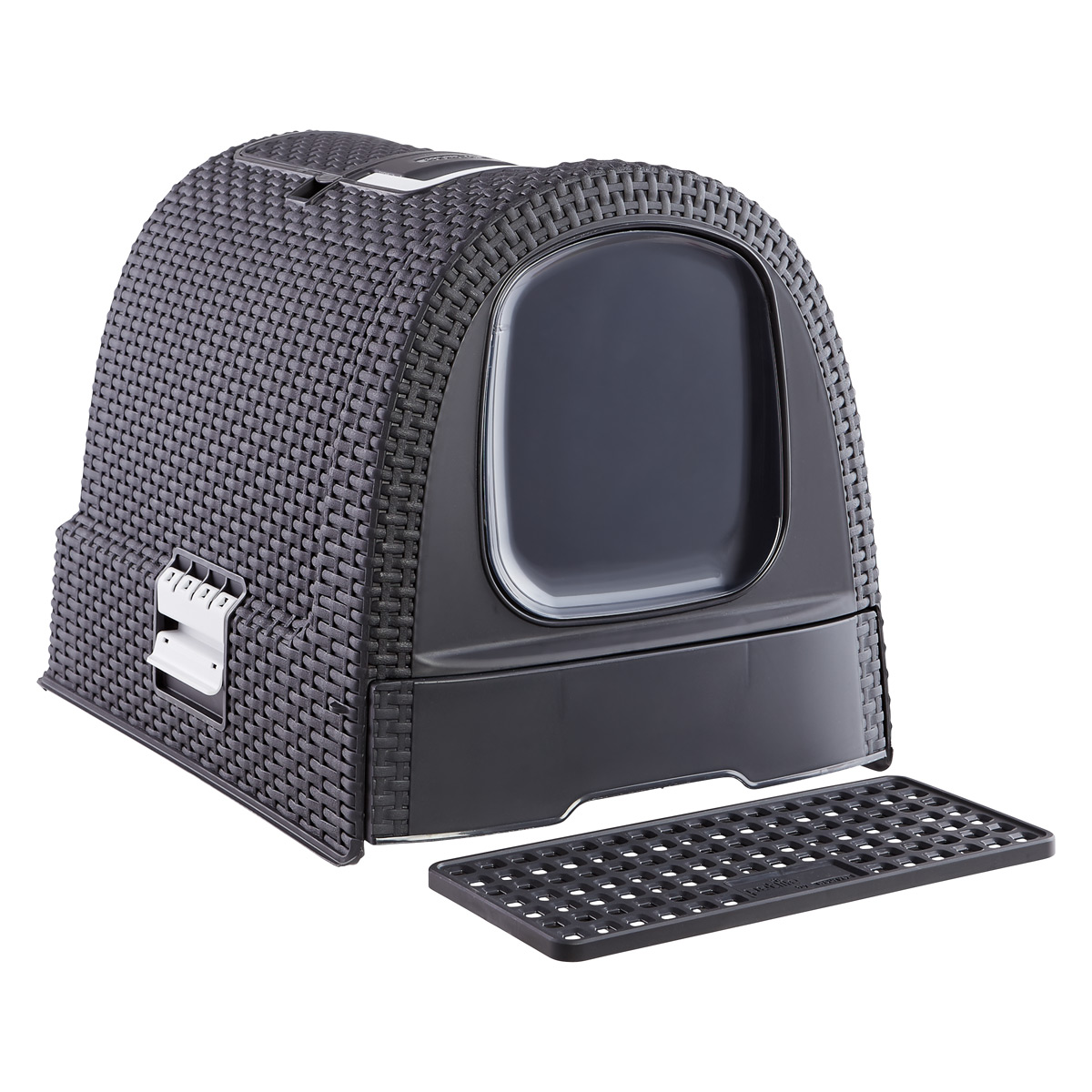 Basketweave Litter Box Grey