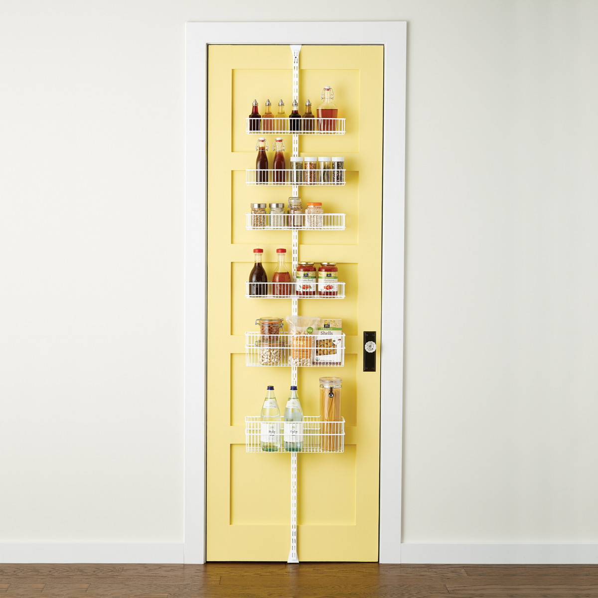 White elfa utility Wire Kitchen Door u0026 Wall Rack & Wall Racks Door Racks u0026 Door Shelving Systems | The Container Store