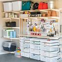 White & Sand elfa Utility Garage
