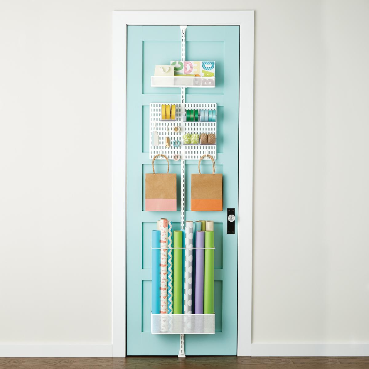 White elfa utility Gift Wrap Door \u0026 Wall Rack